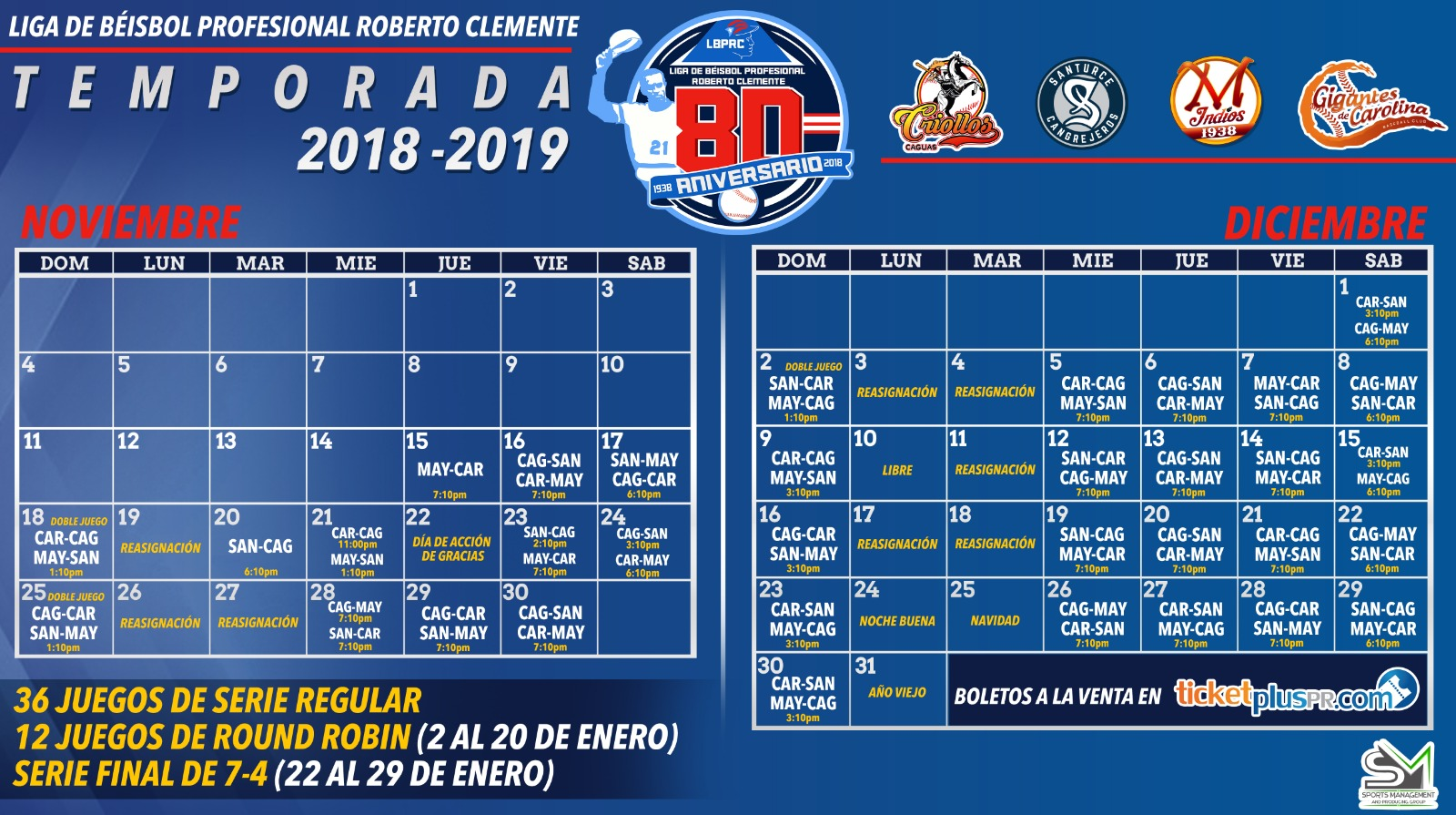 Calendario Lbprc